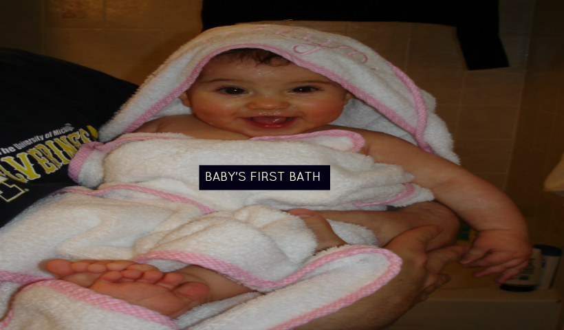 Baby's first bath: Top tips for bathing baby and our first parenting 'win'