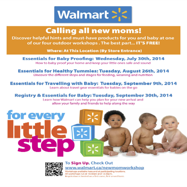 Free workshops with Walmart Canada
