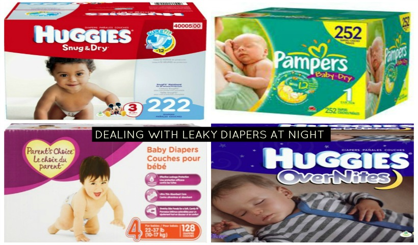 Dealing with leaky diapers at night